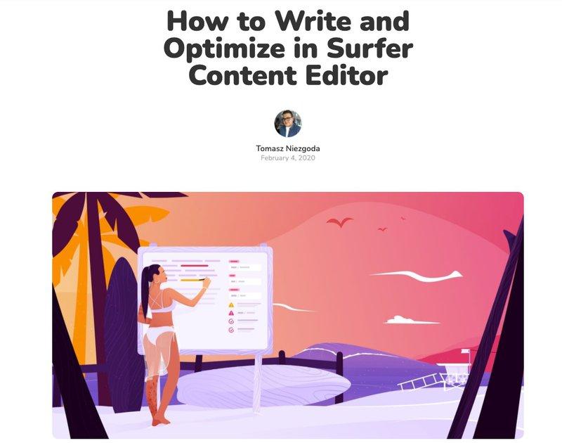 content editor surfer