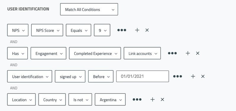 experience flow conditional