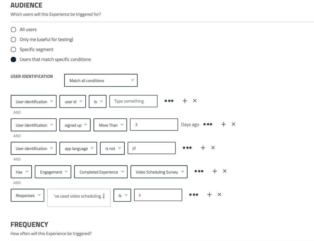 User segmentation userpilot