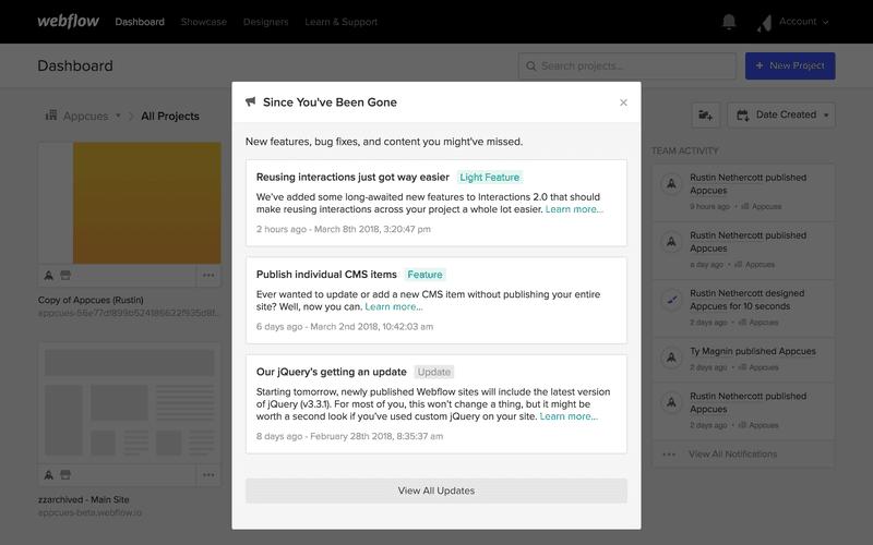 webflow user adoption strategy
