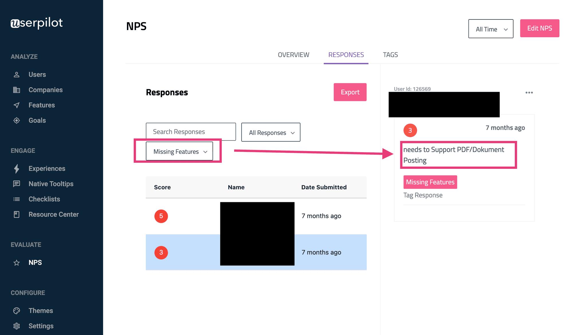 net promoter score (nps) missing features segmentation