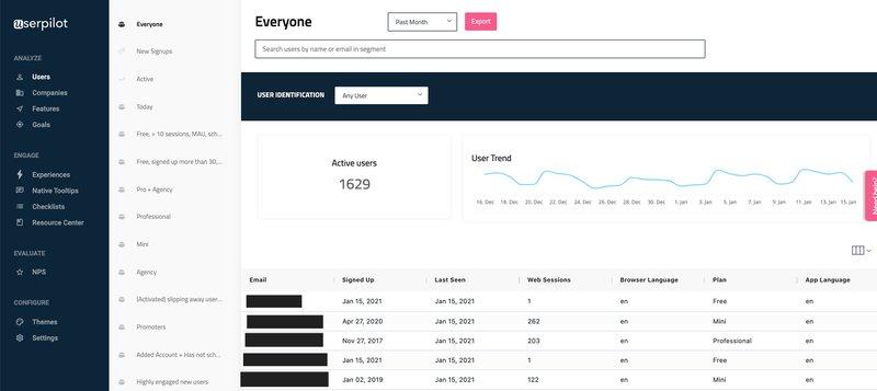 users userpilot analytics