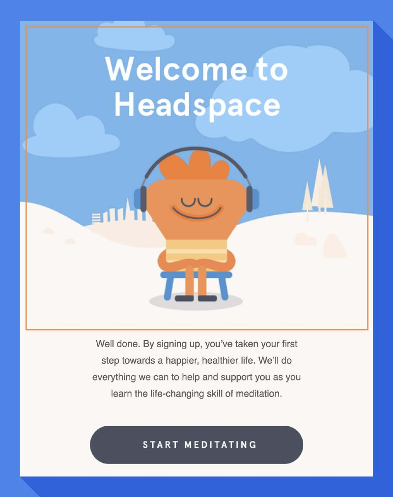 headspace welcome screen