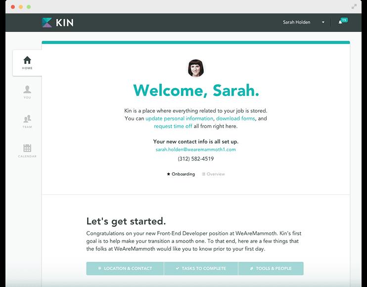 Kin customer segmentation welcome screen