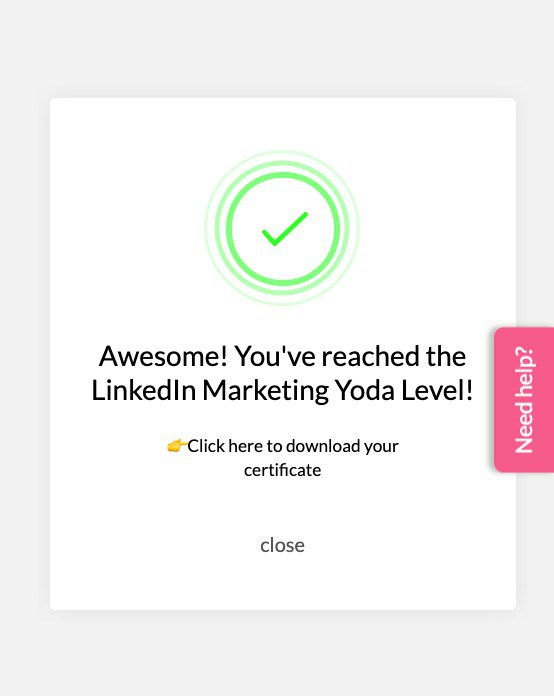 Certification badge gamified onboarding experience