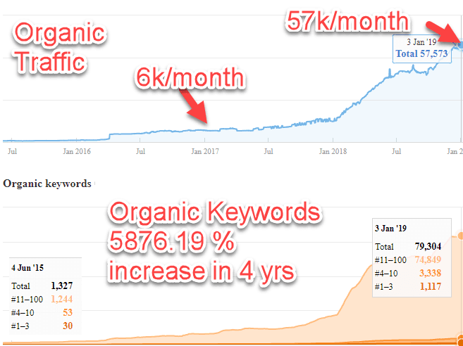 Netguru's organic traffic