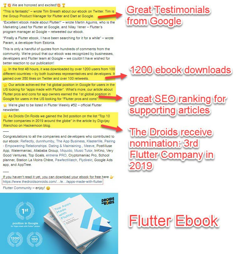Flutter Ebook promotion