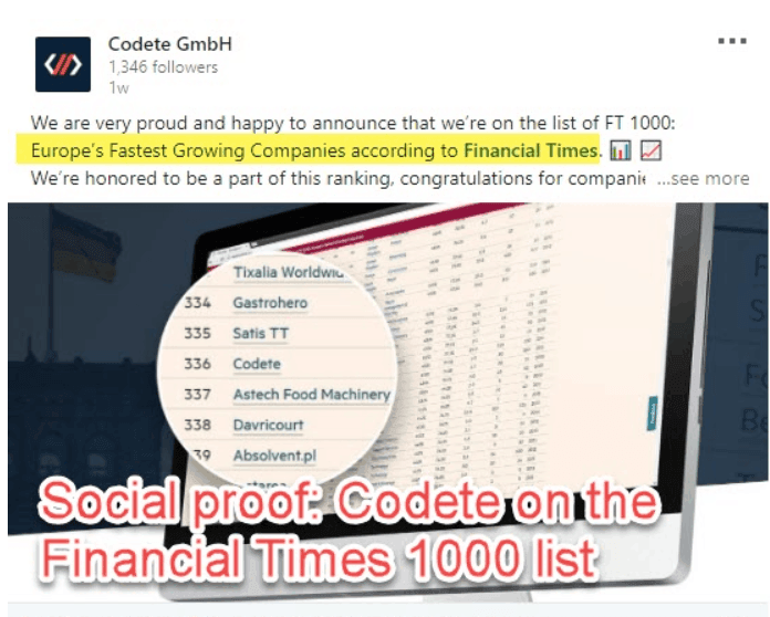 FT nominates Codete
