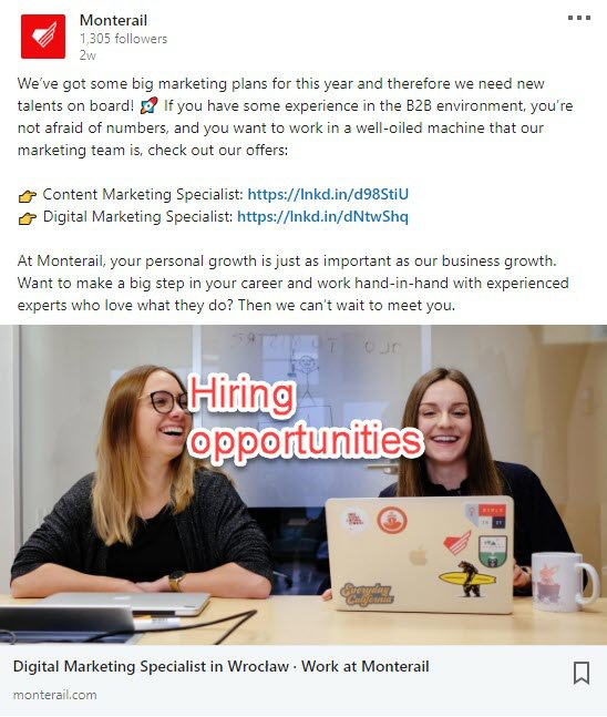 Hiring on LinkedIn