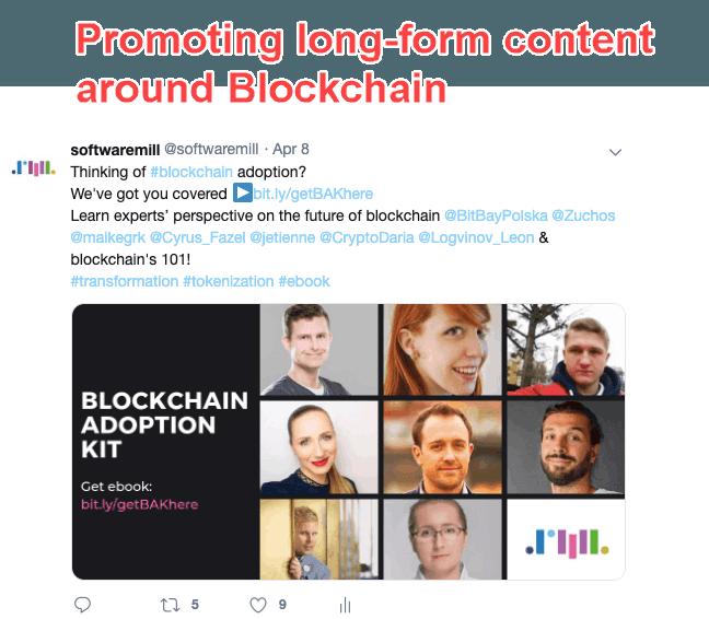 Twitter - proving blockchain expertise