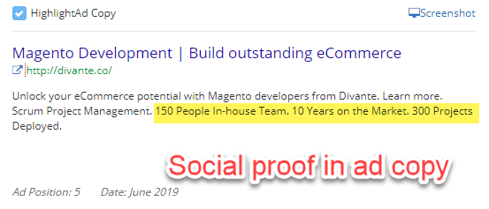 Magento development ads