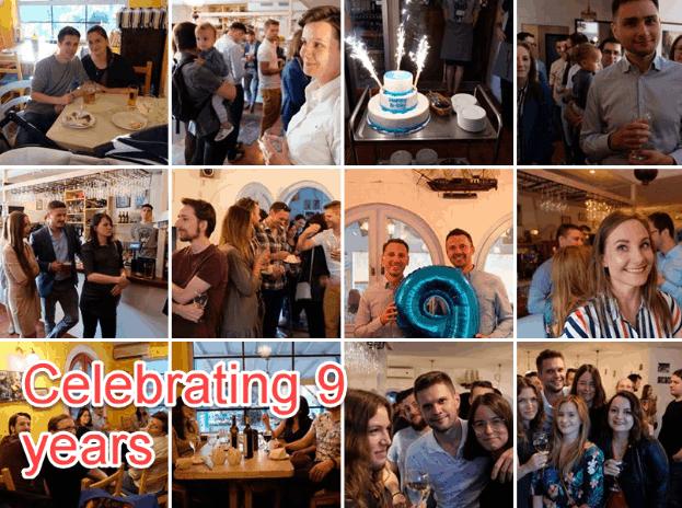Celebrating on FB