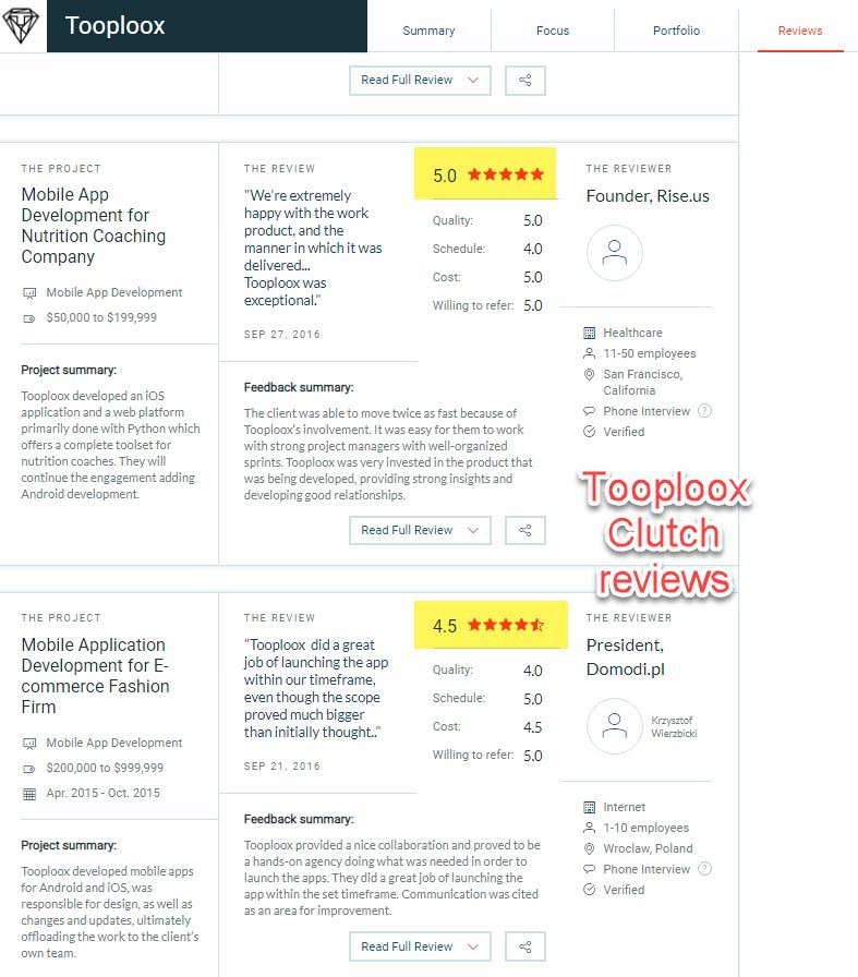 Reviews for Polish Software House: Tooploox