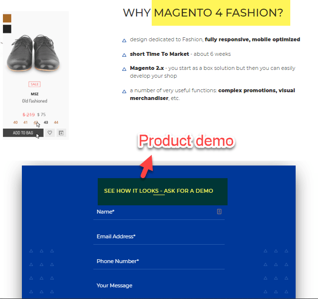 Magento 4 Fashion Demo