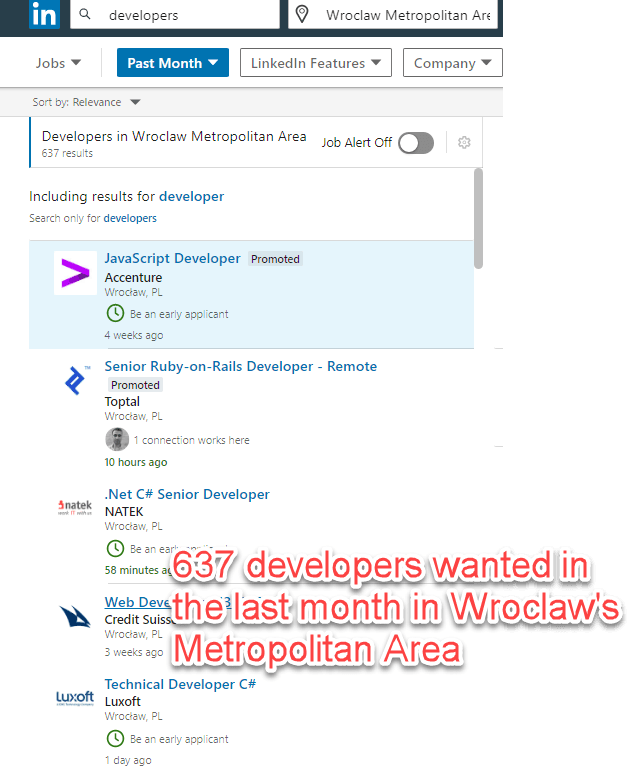 Developers wanted in Wroclaw