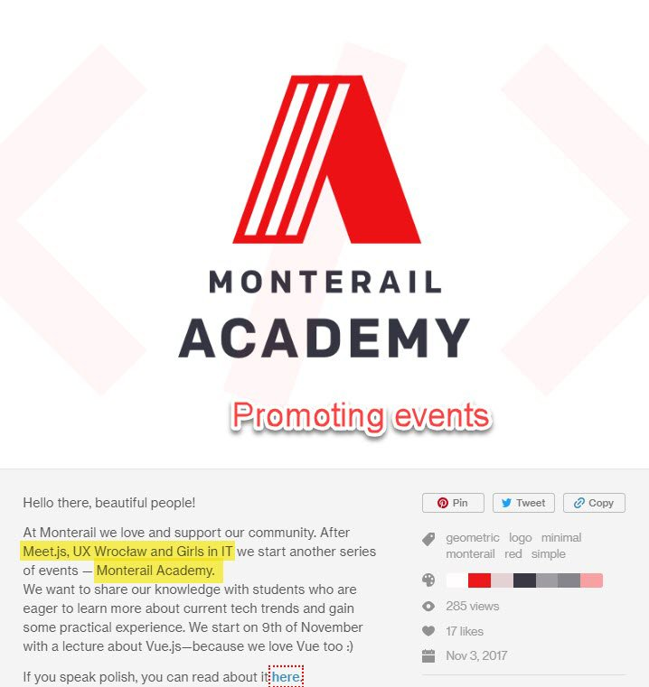 Events on Dribbble