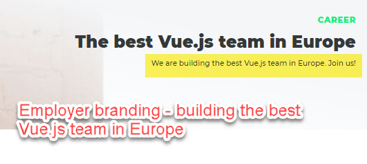 building best Vue team