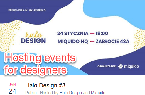 Events for designers