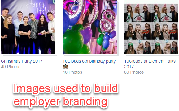 Facebook used to build employer branding