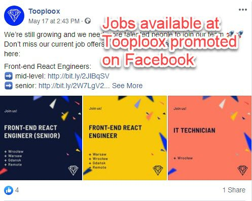 Facebook - hiring announcements