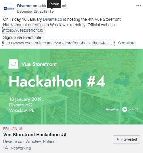 Facebook hackathon post