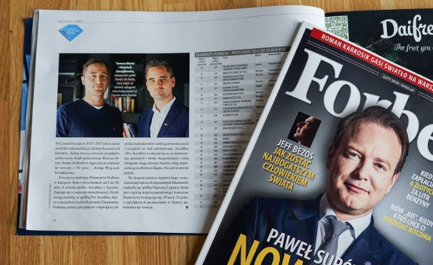 Featured in Forbes magazine