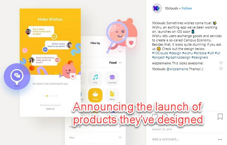 Instagram - launching software products