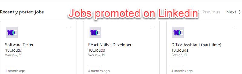 Posting jobs on LinkedIn