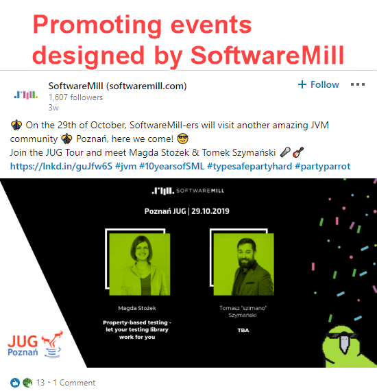 Promoting events on LinkedIn