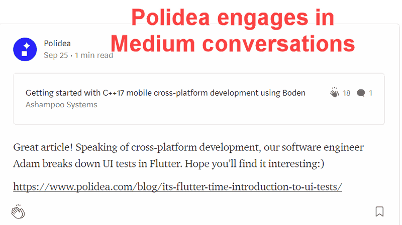 Responses on Medium