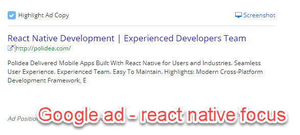 Paid ad