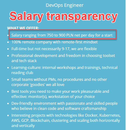 Salaries at SoftwareMill