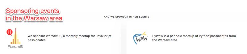 Sponsoring events