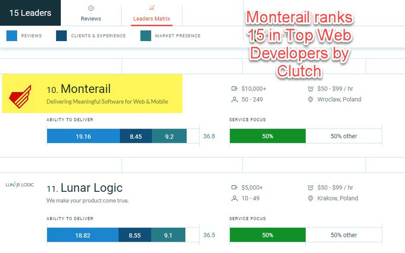Monterail - Top Web Developers by Clutch