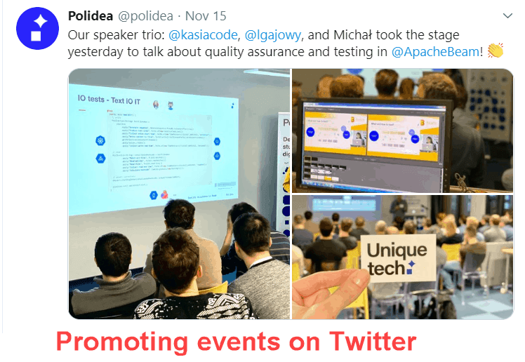 Twitter events