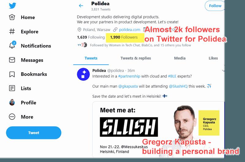 Twitter account for Polidea design studio