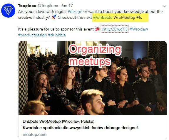 Promoting meetups
