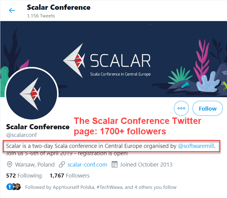 Scalar Conference - Twitter account