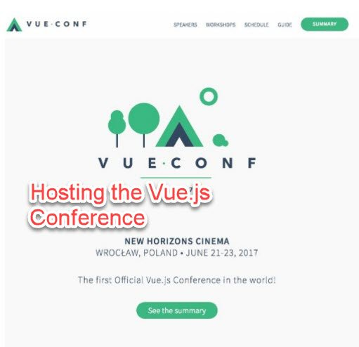 organizing Vue.js conference