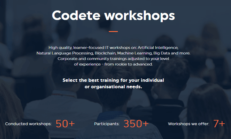 Workshops by Codete