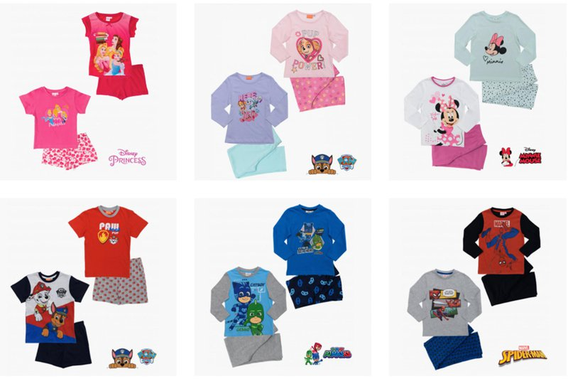 erve.shop licensed wholesale clothing | pyjamas for kids