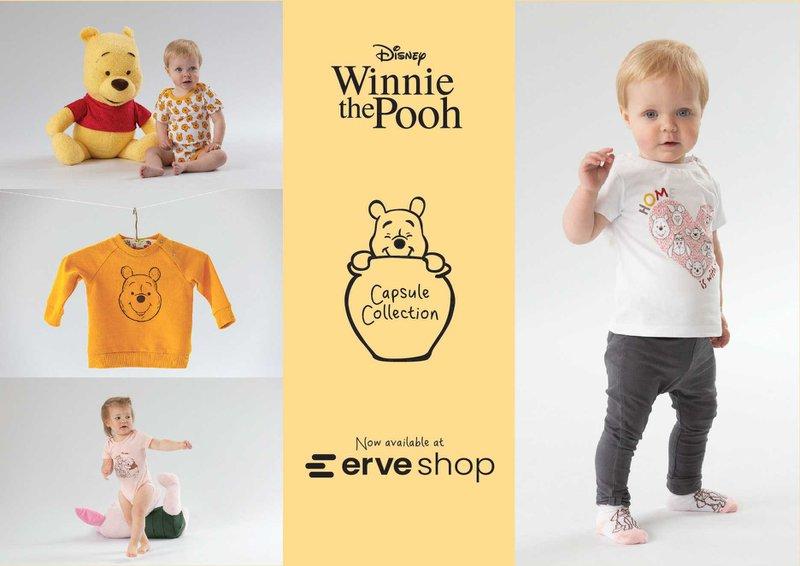 Erve Shop capsule collection Winnie the Pooh