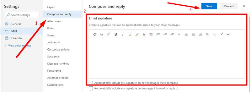 Edit your signature