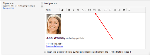 add logo to email signature in gmail