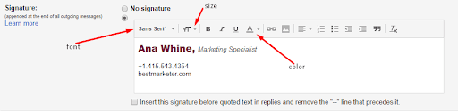 email signature in gmail format