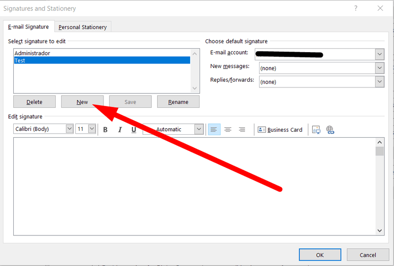 Add a signature to Outlook 2016