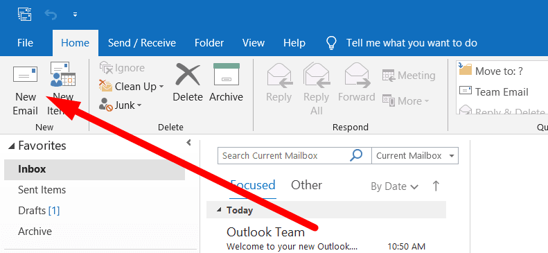 Click 'New Email'
