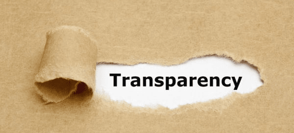 Transparency is key to Customer Trust
