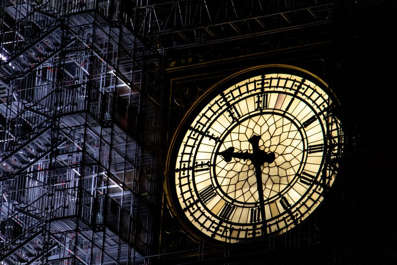You won't see this sight for too much longer.  The iconic clock, which is situated in the Elizabeth Tower, is widely known as Big Ben, however, Big Ben is actually the bell, not the clock or the tower.At present, it is having a clean up and refurbishment.  In order for this to be completed, it has lots of scaffolding around it, so the workmen can access it from the outside.As you will see, I took this photo at almost 9.30pm and I loved the contrast in light that was illuminating the clock face and the scaffolding to the right of it.