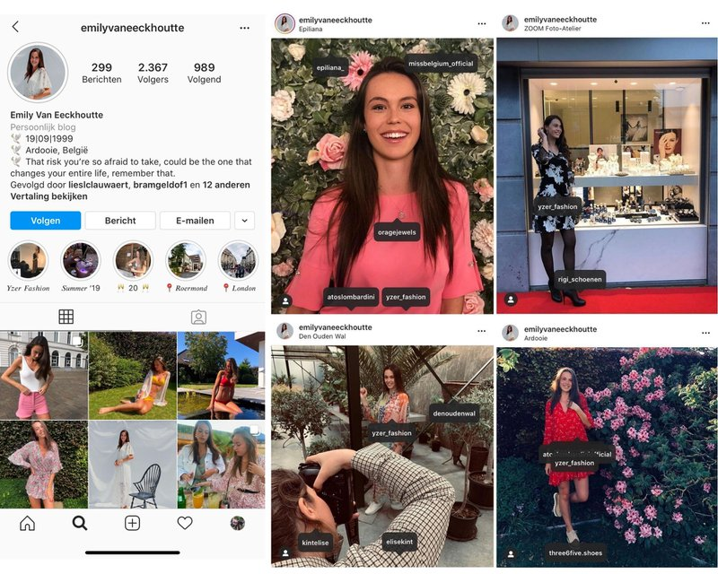 Influencer marketing voor Yzer Fashion